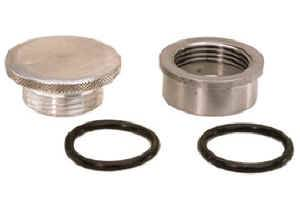 Moroso Performance Products - Moroso Rear End, Water Fill Cap Kit - Rear End/Water Fill Cap Kit - Aluminum Bung