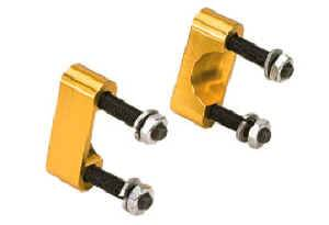 Moroso Performance Products - Moroso U-Joint Girdles - 1955-82 Chevy w/ U-Bolts; Dana 60 w/ U-Bolts - Gold Anodized