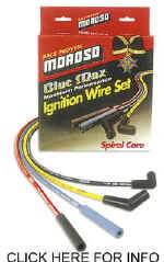 Moroso Performance Products - Moroso Blue Max Spiral Core Ignition Wire Set - Spark Plug Wires Ford w/ 351C - 400 V8 Engines