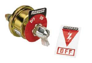 Moroso Performance Products - Moroso Battery Disconnect Switch - Without Alternators - Rating: 20 Amps @ 6-36 Volts DC