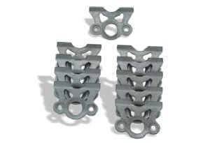 "Moroso Performance Products - Moroso Quick Fastener Mounting Bracket - Steel - Lightweight 45° - Accepts 1"" Springs - - (10 Pack)"