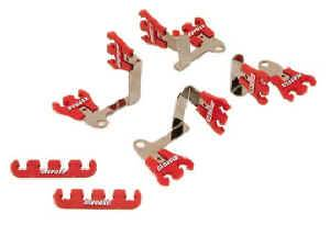 Moroso Performance Products - Moroso Show Car Spark Plug Wire Loom Kit - Red - 7-8mm