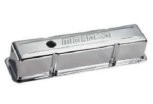 Moroso Performance Products - Moroso Stamped Steel Valve Covers - SB Chevy - Chrome Plated - SB Chevy - Tall Design