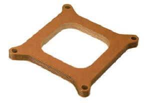 "Moroso Performance Products - Moroso 1/2"" Wood Carburetor Spacer - Single Hole - Fits Standard Holley® Carburetors"