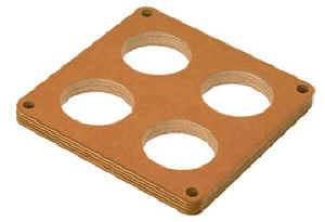 "Moroso Performance Products - Moroso 1/2"" Wood Carburetor Spacer - 4-Hole 2"" Dia Holes - Fits Holley® Dominator Carburetors"
