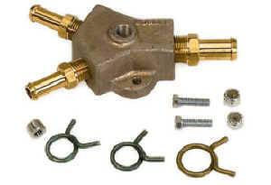 """Moroso Performance Products - Moroso Aluminum """"Y"""" Fuel Block - 1/2"""" Hose Inlet w/ Two 1/2"""" Hose Outlets"""