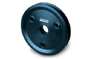 """Moroso Performance Products - Moroso Billet Single Groove Crankshaft Pulley - SB Chevrolet - Single Groove - 1968-Earlier (With Short Water Pump) - 30% Reduction - 5.25"""" O.D"""