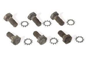 "Moroso Performance Products - Moroso Flex Plate Bolts - SB, BB and 90° Chevy V6 Engines - 7/16""-20 x 3/4"" - Each Package Has 6 Bolts and Washers"