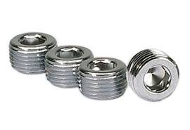 "Moroso Performance Products - Moroso 3/8"" NPT Chrome Pipe Plugs - (4 Pack)"