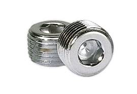 "Moroso Performance Products - Moroso 1/2"" NPT Chrome Pipe Plugs - (2 Pack)"