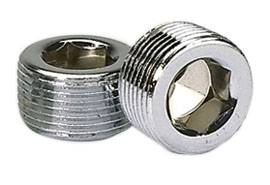 """Moroso Performance Products - Moroso 3/4"""" NPT Chrome Pipe Plugs - (2 Pack)"""
