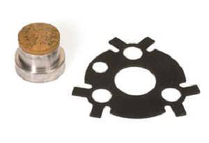 Moroso Performance Products - Moroso SB Chevy Cam Stop Button and Retaining Plate - SB and 90° V6 Chevy w/ Early Ribbed Style Timing Cover