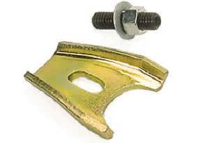 Moroso Performance Products - Moroso Distributor Hold Down Clamp - All V8 and 90° V6 Chevrolet Engines - Gold Iridite Steel