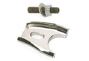 Moroso Performance Products - Moroso Chrome Distributor Hold Down Clamp - All SB Ford Engines - Chrome Plated Steel