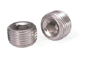 "Moroso Performance Products - Moroso Aluminum Pipe Plugs - 1/2"" NPT Thread - (2 Pack)"