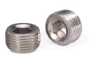 "Moroso Performance Products - Moroso Aluminum Pipe Plugs - 3/8"" NPT Thread - (2 Pack)"