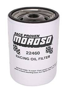 "Moroso Performance Products - Moroso Long Chevy Racing Oil Filter - Chevy and Others - 13/16"" -16 UNF Thread"