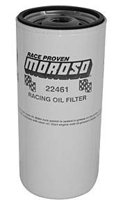 "Moroso Performance Products - Moroso Chevy Racing Oil Filter - Chevy and Others Where Space Allows - 2 Quart Capacity - 13/16"" -16 UNF Thread"