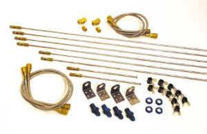 Longacre Racing Products - Longacre Complete Brake Line Kit - #4 AN