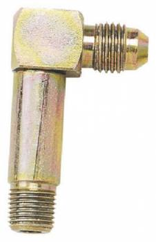 "Longacre Racing Products - Longacre Long Leg Caliper Fitting - 1/8"" NPT x #4 AN 90°"