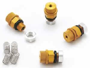 Longacre Racing Products - Longacre Tire Pressure Relief Valves (Set of 4) - 3-38 PSI