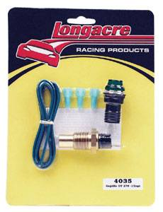"Longacre Racing Products - Longacre Gagelites Warning Light Kit - 270° Oil Temp 1/2"" NPT"