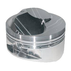 "JE Pistons - JE Pistons Standard 23° Domed Piston Set - SB Chevy 350 - 4.030"" Bore, 3.750"" Stroke, 6.000"" Rod Length, 13.5:1 Ratio, 9.5 cc"