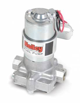 """Holley Performance Products - Holley Electric Fuel Pump - 140 GPH """"Black"""" Electric Fuel Pump"""