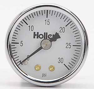 Holley Performance Products - Holley Fuel Pressure Gauge - 0-30 PSI