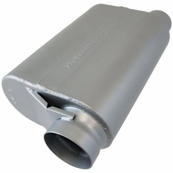 "Flowmaster - Flowmaster 40 Series Delta Force Alcohol Race Muffler - 3.5"" Offset Inlet, 3"" Same Side Outlet - Aggressive Sound - 13.50"" x 10.00"" x 5.00"""