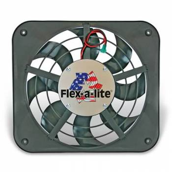 Flex-A-Lite - Flex-A-Lite Low Profile 12 Electric Fan - 1250 CFM - Amp Draw: 9.5