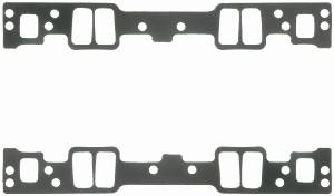 "Fel-Pro Performance Gaskets - Fel-Pro Intake Manifold Gaskets - SB Chevy - Cast Iron & Aluminum Heads w/ Conventional Ports - Vortec - 1.08"" x 2.11"" Port Size - .120"" Thickness"