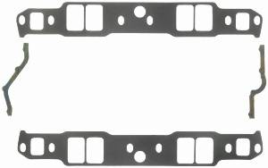 "Fel-Pro Performance Gaskets - Fel-Pro Intake Manifold Gaskets - SB Chevy - Aluminum Heads w/ Non-Conventional Ports, Chevy Raised Runner & Pontiac 867, Brodix -12Sp - 18Sp - Std, - 1.31"" x 2.02"" Port Size - .060"" Thickness"