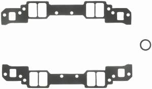 "Fel-Pro Performance Gaskets - Fel-Pro Intake Manifold Gaskets - SB Chevy - Aluminum Heads w/ Non-Conventional Ports, Chevy 18° High Port - 1.25"" x 2.15"" Port Size - .045"" Thickness"