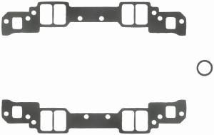 "Fel-Pro Performance Gaskets - Fel-Pro Intake Manifold Gaskets - SB Chevy - Aluminum Heads w/ Non-Conventional Ports, Chevy 18° High Port - 1.25"" x 2.15"" Port Size - .090"" Thickness"