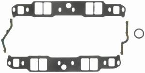 "Fel-Pro Performance Gaskets - Fel-Pro Intake Manifold Gaskets - SB Chevy - Aluminum Heads w/ Non-Conventional Ports, Chevy Raised Runner & Pontiac 867, Brodix -12SP, -18SP - Std, - 1.31"" x 2.02"" Port Size - .120"" Thickness"