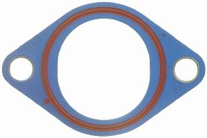 "Fel-Pro Performance Gaskets - Fel-Pro Water Outlet (Thermostat) Gasket - SB Chevy - 1/8"" Plastic, Molded Rubber"