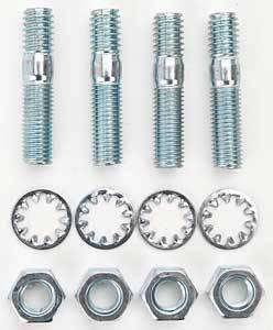 """Edelbrock - Edelbrock Carburetor Stud Kit - Includes Studs/Nuts/Washers - 5/16""""-18 Thread - 1.375"""" Length (Set of 4)"""