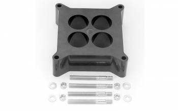 "Edelbrock - Edelbrock Carburetor Spacer - 4-Hole 2"" Spacer - Black Phenolic Plastic"