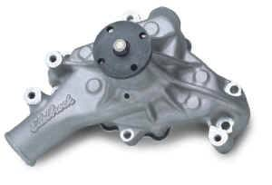 "Edelbrock - Edelbrock Victor Aluminum Water Pump - SB Chevy - Standard Rotation - Long-Style Pump - 5/8"" Pilot Shaft"