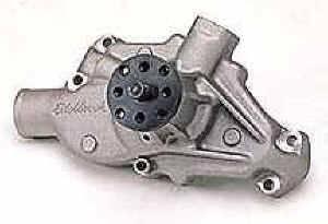 "Edelbrock - Edelbrock Victor Aluminum Water Pump - SB Chevy - Standard Rotation - Short-Style Pump - 3/4"" Pilot Shaft"