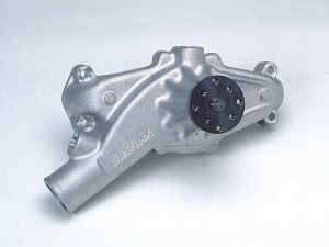 "Edelbrock - Edelbrock Victor Polished Aluminum Water Pump - Reverse Rotation - BB Chevy - Short-Style Pump for Serpentine Belt - 5/8"" Pilot Shaft"