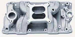 Edelbrock - Edelbrock Performer RPM Air-Gap Intake Manifold - SB Chevy - Polished - (Non-EGR)