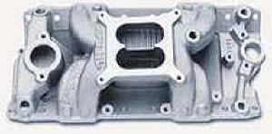 Edelbrock - Edelbrock Performer RPM Air-Gap Intake Manifold - SB Chevy - Polished - (Non-EGR)