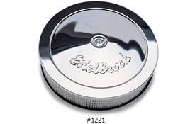 """Edelbrock - Edelbrock Chrome Air Cleaner - 14"""" Diameter w/ 3"""" Element (3-5/16"""")"""
