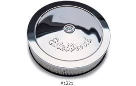 "Edelbrock - Edelbrock Chrome Air Cleaner - 14"" Diameter w/ 3"" Element - 3/8"" Deeper Flange (3-3/4"")"