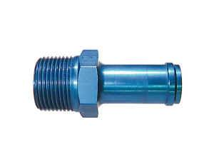 "Earl's Performance Products - Earl's Aluminum Straight Hose Barb to Pipe Thread Adapter - 1/2"" Hose I.D., 3/8"" NPT"
