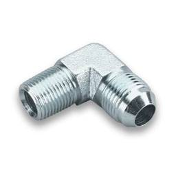 "Earl's Performance Products - Earl's Steel 90° Pipe Thread to AN Elbow Adapter -04 AN to 1/8"" NPT"
