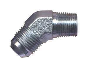 "Earl's Performance Products - Earl's Steel 45° Pipe Thread to AN Adapter -04 AN to 1/8"" NPT"