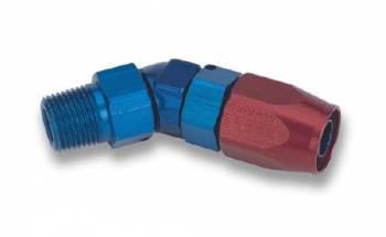 "Earl's Performance Products - Earl's Swivel-Seal 45° Male Pipe Thread Hose End -06 AN Hose to 3/8"" NPT"